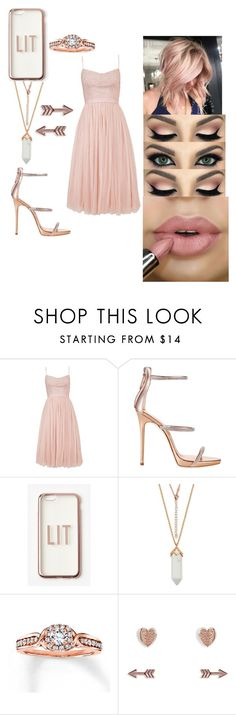 """""""~Rose Gold🌹"""" by gabrielle-v-johnson ❤ liked on Polyvore featuring Needle & Thread, Giuseppe Zanotti, Missguided and Vera Bradley"""