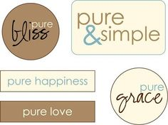 more labels to print on fabric or paper