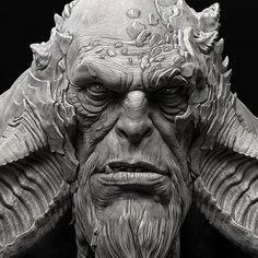 Troll (God of War), Raf Grassetti Mythical Creatures Art, Fantasy Creatures, Zbrush Character, Character Art, Zbrush Models, Drawing People Faces, Humanoid Creatures, Sketching Tips, Dark Art Drawings