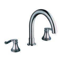 Handle Double Handle Deck Mount Tub Only Faucet Trim