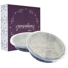 temp-tations®+by+Tara:+temp-tations®+Floral+Lace+Set+of+2+Pie+Plates+with+Gift+Boxes