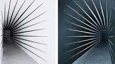 Getulio Alviani, Tunnel Optical Illusions, Facade, Contemporary Art, Set Design, Vip, Cinema, Jokes, Google, Fence