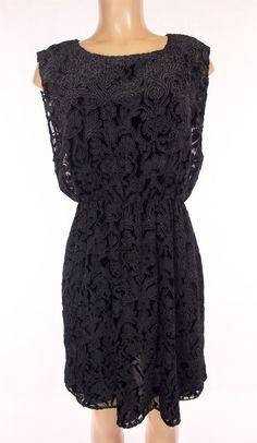 ALICE + OLIVIA Dress Size M Medium Black White Velvet Burnout Floral Evening #AliceOlivia #LittleBlackDress