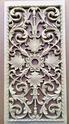 We manufacture 15 of our French grilles for a Texas client. This grille is x Shabby, Wood Carving Designs, Ceiling Medallions, Ceiling Design, Door Design, Wood Art, Print Patterns, Diy And Crafts, Wall Decor