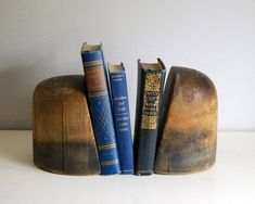 2 Wood Hat Blocks, Millinery Hat Forms, Rustic Industrial Hat Molds, Salvage Bookends, Shop Display