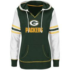 Women's Green Bay Packers Majestic Green Overtime Madness Pullover ...