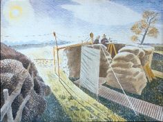 The Higgins Art Gallery & Museum, Bedford: Picture of the Week - Eric Ravilious - Observer's Post Landscape Art, Landscape Paintings, Landscapes, Dulwich Picture Gallery, Pictures Of The Week, East Sussex, Location History, Painting & Drawing, Photo Wall Art