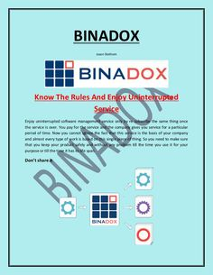 Binadox is a software license providing company and helps to manage software license compliance to avoid costly violations and inspection/audit of software while implementing.  For More Information Visit Here:-  https://www.binadox.com/