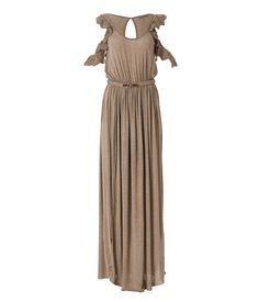 Apolafsi dress. Code:D1213.74 Composition:94% viscose ,6% elastane. Description: long dress , short lace sleeves, roundneck, opening stab in the back, elastic waist, elastic belt with metal buckle. Black, grey menange ,beige.