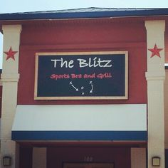 """The Blitz Sports """"BRA"""" and Grill. -- this is why proofreading is important!!!"""