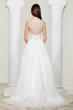 'Aimee' dress with it's beautiful back detailing