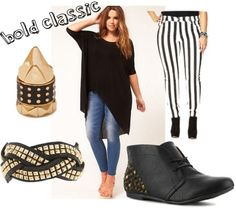 Curvy fashion, can't do striped pants....but adore the rest!