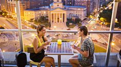 Discover the best rooftop bars in Washington, DC. Watch a sunset or admire the skyline with a cocktail in hand while at these outdoor drinking establishments.
