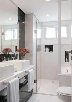 Banheiros em branco e preto | Simples Decoracao | Simples Decoração