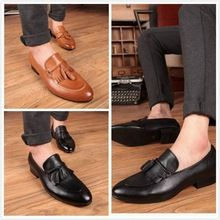 Like and Share if you want this  Brand new men's tassel loafers genuine leather mocassins Bullock zapatos hombre dress shoes     Tag a friend who would love this!     FREE Shipping Worldwide     #Style #Fashion #Clothing    Get it here ---> http://www.alifashionmarket.com/products/brand-new-mens-tassel-loafers-genuine-leather-mocassins-bullock-zapatos-hombre-dress-shoes/