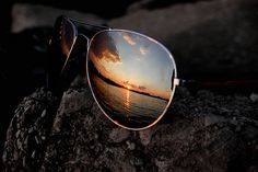 aviators, water and a sunset! What more do you need??