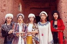 Iranians in beautiful traditional dress in Abyane, IRAN