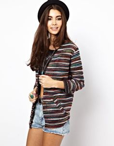 ASOS Blazer in Mixed Stripe Boucle- perfect for festivals!