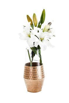 "10"" Rs1049 Glass Flower Vases, Artificial, Planters, Flowers, Gold, Home Decor, Decoration Home, Room Decor, Plant"