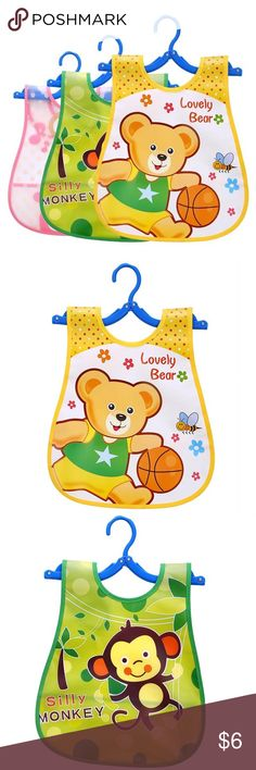 Set of 3 Waterproof cartoon Baby bibs This item is brand new With Tags still attached. All items come from a pet and smoke free home. I ship within onebusiness day of receiving payment. Feel free to ask for more information or details pictures about the item! Nara Baby Kin Accessories Bibs