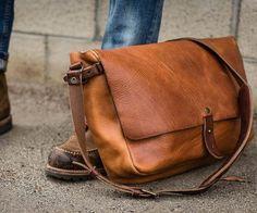 Leather messenger