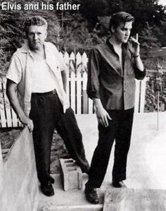 Extremely Rare, Elvis and his Father.
