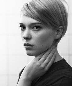 Short hair. Léa Seydoux by Eric Guillemain. https://www.nowness.com/story/lea-seydoux-mirror-mirror