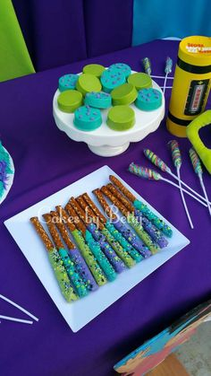 Betty V's Birthday / Monster's Inc - Photo Gallery at Catch My Party Monster University Birthday, Monster 1st Birthdays, Monster Truck Party, Monster Birthday Parties, First Birthday Parties, First Birthdays, Monsters Inc Baby Shower, Monsters Inc Boo, Monsters Ink