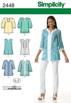 Simplicity 2448  ruffle front  sleeveless top
