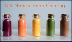 DIY Natural Food Coloring  - Now I really need a food dehydrator