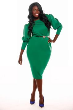 Plus size emerald green pants