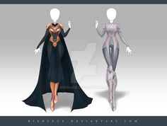 (OPEN) Adoptable Outfit Auction 179 - 180 by Risoluce on DeviantArt Dress Drawing, Drawing Clothes, Fashion Design Drawings, Fashion Sketches, Anime Outfits, Cool Outfits, Style Feminin, Anime Dress, Fantasy Dress