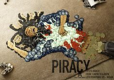 Piracy Fotografia publicitaria; Piracy Bob Marley, agencia FirstFloorUnder TBWA. Milán, Italia