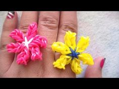 ▶ Lily Flower Charm Without the Rainbow Loom | CraftyVGV - YouTube