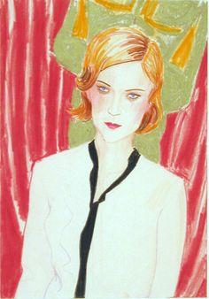 "Elizabeth Peyton. Chloe. 2001.Chloe  Date:2001Medium:Colored pencil on paperDimensions:8 5/8 x 6"" (21.8 x 15.2 cm)"