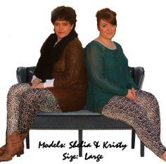 Leopard print sweater leggings! $20
