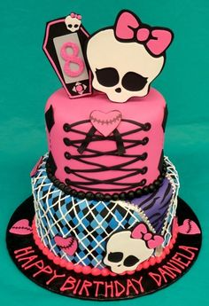 TORTA de MONSTERS HIGH