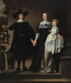 Nicolaes Maes (Dutch, 1634–1693) - Portrait of a Married Couple with a Child , 1655-1660