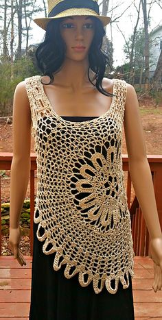 Ravelry: Lace Tank Top (Med/Large) pattern by Gu'Chet