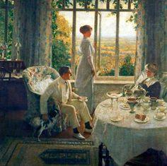 Leonard Campbell Taylor - Summer Afternoon English ( 1874-1969 )