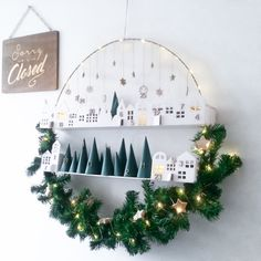 Advent calendar Christmas wreath way Christmas Calendar, Diy Advent Calendar, Noel Christmas, Winter Christmas, Christmas Crafts, Christmas Ornaments, Xmas, Scandinavian Christmas Decorations, Country Christmas Decorations
