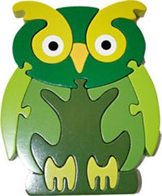 Fun Green Owl Puzzle