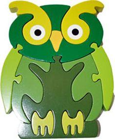 Fun Green Owl Puzzle