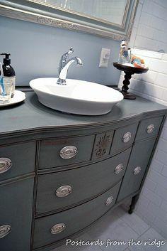 buffet to bath vanity