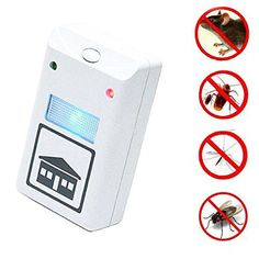 LOHOME As Seen on TV Pest Repeller Pest Control Nopoison Pest Repelling Aid Against Mouse Rat and Insects with Built in Night Light
