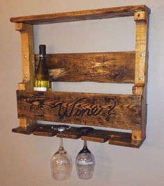 Pallet Wine Rack. Follow rickysturn/diy-home-decor
