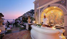 Champagne Bar at Le Sirenuse, Positano, Italy