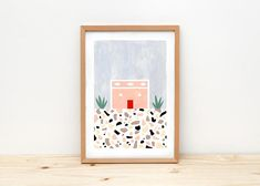 Portuguese House I Illustration By Depeapa Print Poster A4