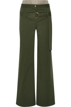 ROSIE ASSOULIN I See London Stretch-Cotton Twill Wide-Leg Pants. #rosieassoulin #cloth #pants