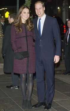 twitter:  Cambridges Visit to USA, New York, December 7, 2014-The Duke and Duchess of Cambridge have arrived in the USA and posed for pictures at the Carlyle Hotel, where they will stay during their two-day visit; the Duchess wore a coat by British maternity label Seraphine.
